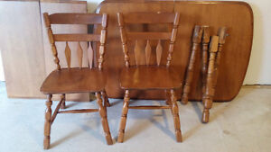 table & 6 chairs, solid oak