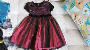 Girl's Pink and Black Party Dress- Size 5