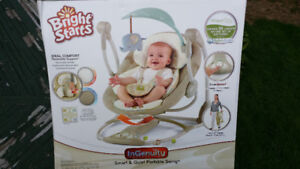 Bright Starts Smart & Quiet Portable Swing InGenuity Collection