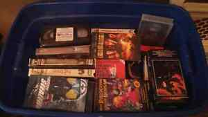 Selling too cantainers of vhs movies
