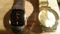"""Nikon """"Gold"""" SS Watch and Stainless Steel Bulova Watches"""