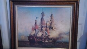Tableau avec cadre navire