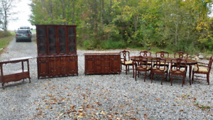 Antique Dining set with hutches