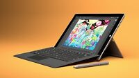Microsoft Surface Pro 3 with Type Cover, Pen and Box