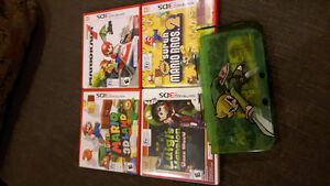 Selling one Zelda Case as well as 4 games for Nintendo 3DS XL