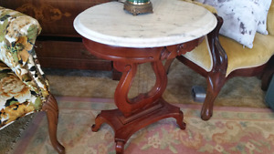 Marble top harp table 169