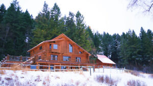 Masterpiece Custom Home - Rare Authentic Log, Daylight-Drenched
