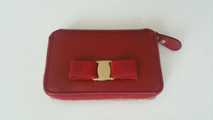 Salvatore Ferragamo Vara Bow Coin Purse - in Red