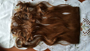 Light Brown Wavy One Piece Hair Extension