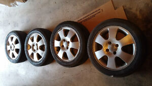 "FOCUS 16"" ALLOYS (4) . WITH TIRES . $220"