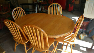 Oak Dining Set for 5