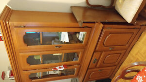 Antique dinning table with china cabinet Kingston Kingston Area image 2