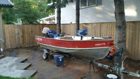 16' Aluminum Lund Fishing Boat w/40 HP