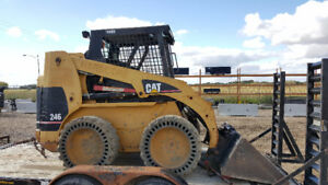 2001 CAT 246A Skid Steer and Trailer with Snow Contract $29,950