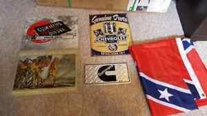 Tin signs and Flag for sale Windsor Region Ontario image 1