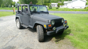 Jeep tj MANUEL, 4 LITRES, 2001, 185 000 kilo, pneu de off road