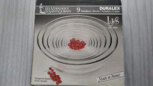 Duralex Made In France Lys Clear Tempered Glass  9Pc Bowl Set
