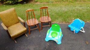 Antique kids chairs