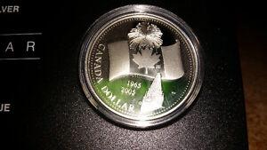 Canadian Silver Dollar~1965-2005~100% Silver~$1 Silver Coin..... London Ontario image 2