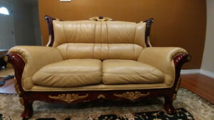 Brown Leather Sofas (Used)