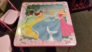 Disney Princess Kids Table and 2 Chairs