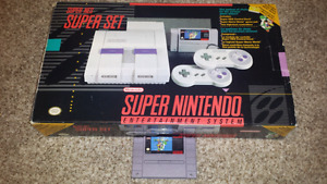 Selling a Boxed Super Nintendo + Super Mario World + Extras!