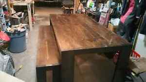 Dining table and bench Strathcona County Edmonton Area image 1