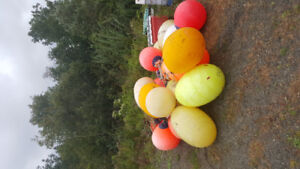 22 large LD3&LD2&round ballons used for lobster& HALIBUT FISHING