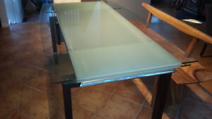 Table Rallonge verre
