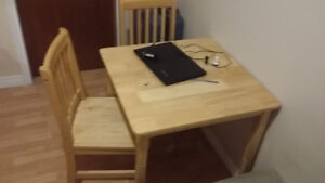 Table for sale  with 2 chairs