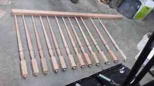 Oak spindle an  railing for sale