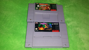 For sale, super Nintendo games, donkey Kong. Gradius lll.