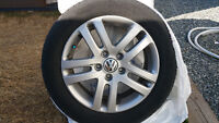 VW WHEELS AND TIRES, SET OF 4