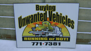 CASH for YOUR UNWANTED CAR, TRUCK, VAN - CALL BRUCE 204-771-7381