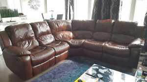 Leatherette Sectional Recliner
