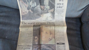 old newspaper-World Mourns Diana