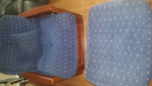 Single futon chair with 10inch mattress and ottoman.