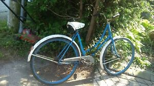 2 antique Ontario-made bicycles (red and blue)