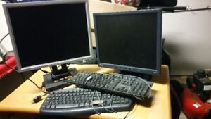 Old Monitors and Keyboards $15.00 each.