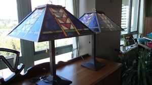 rustic stained glass table lamps