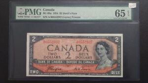 Canadian 1954  2 Dollars Bank Note