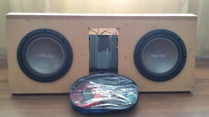 Kenwood subs, amp and cords