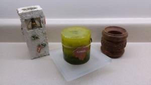 Candle/Holder Lot