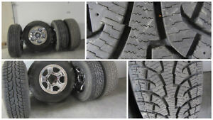 Set of 4 Winter Tires & Rims. About 1100 kms used