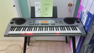 Casio keyboard LK-73 with key-lights system + Stand( In Box)