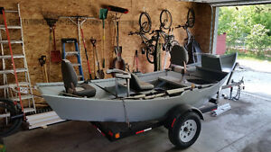 17.5 foot 3 man drift boat