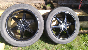 "22"" Wheels and tires (4)"