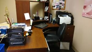 COSTCO OFFICE DESK w/Board Table and Hutch plus MORE