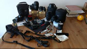 NIKON 5100 Camera + 4 Lenses, Cases, Accessories