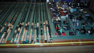 NEW FISHING RODS AND REELS FOR SALE = FROM LIGHT TO HEAVY
